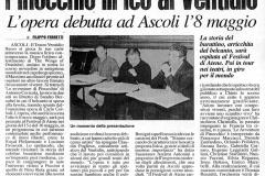 Pinocchio - Corriere Adriatico - 18 Aprile 2004