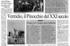 Pinocchio - Il Messaggero - 27 aprile 2004